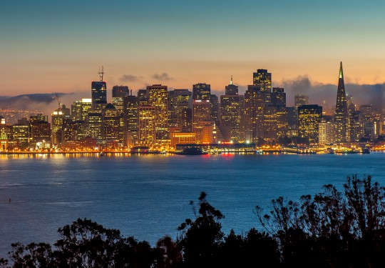 San Francisco Down town view from Treasure Island