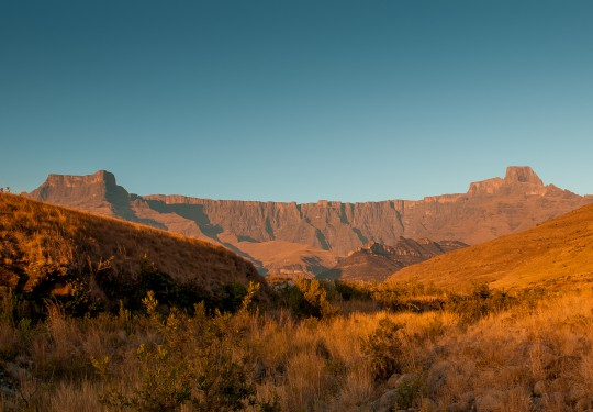 Amphitheatre at sunrise, Drakensberg, South Africa