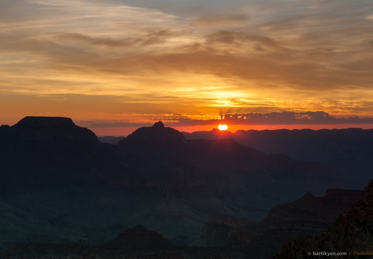 Sunrise at Grand Canyon, Arizona USA